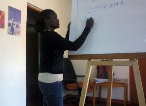 Eva teaching